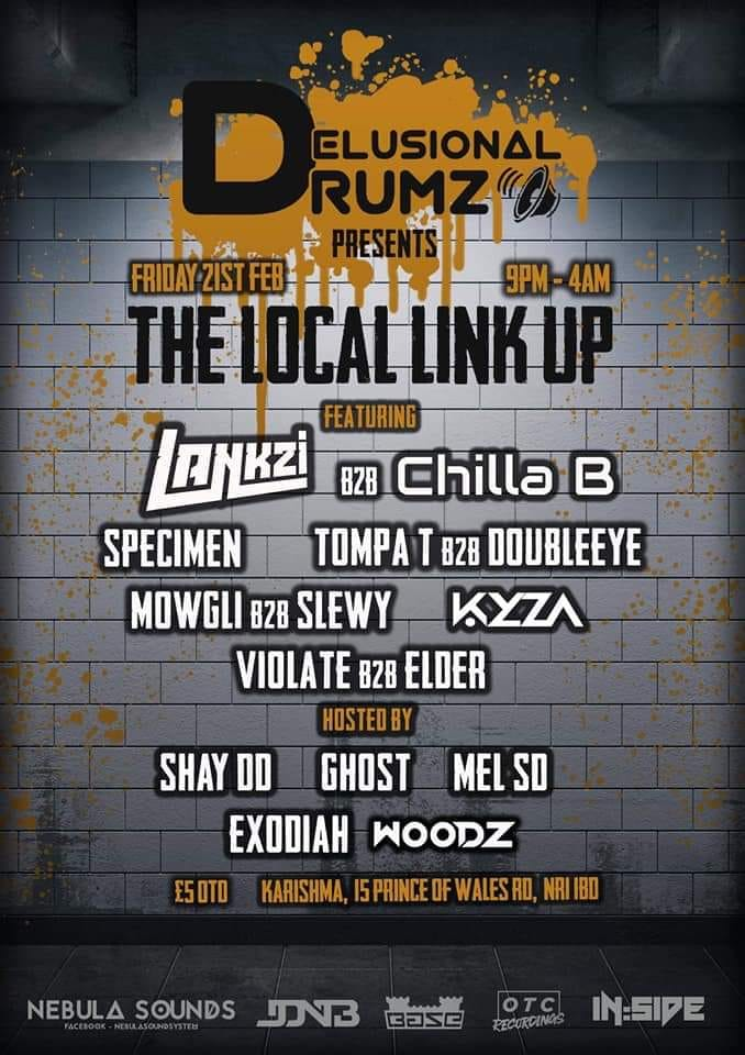 Delusional Drumz Presents 'The Local Link Up'