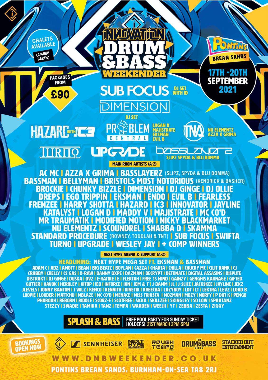 [17.9.21 - 20.9.21] Innovation Drum And Bass Weekender 2021