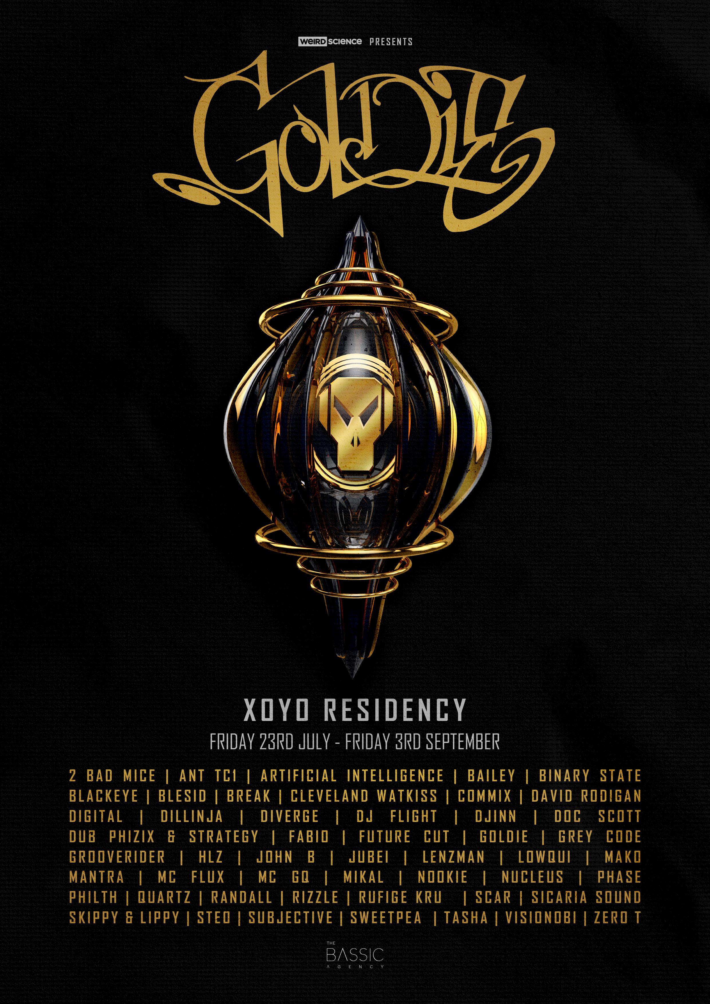 Goldie Announces Seven Week Residency At XOYO