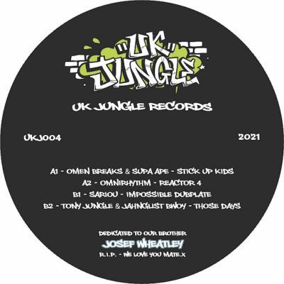 """UK Jungle Records Presents: UK Jungle 004 (12"""" VINYL)"""
